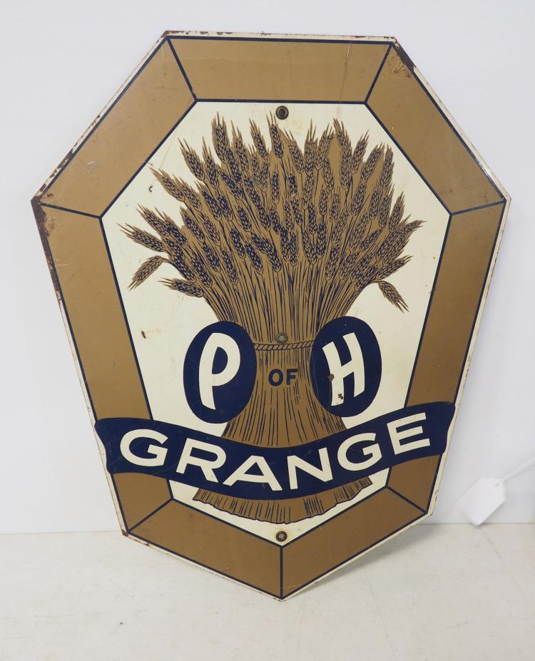 p of h grange sign. Black Bedroom Furniture Sets. Home Design Ideas
