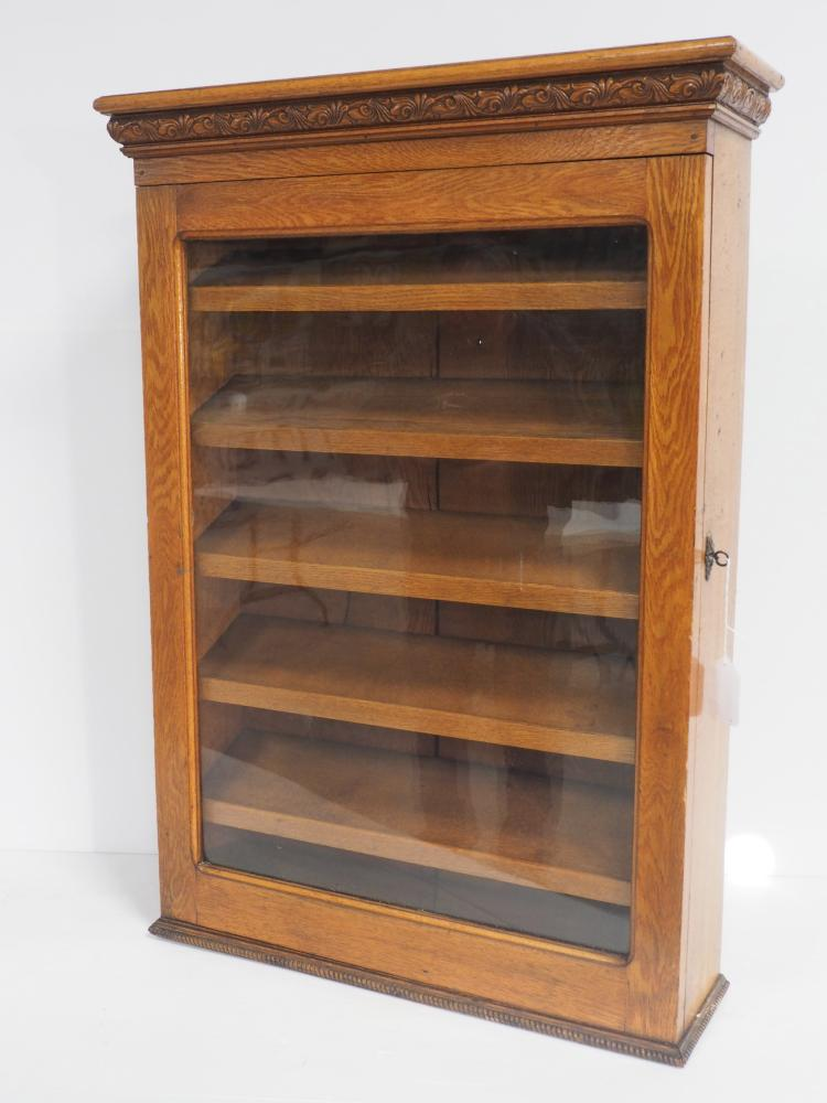 Oak Country Store Display Cabinet