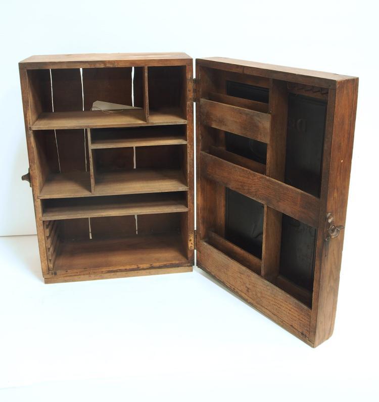 Wooden DeLaval Cream Separators Parts Cabinet