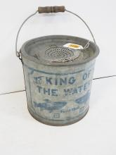 King of the Waters Minnow Bucket