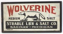Wolverine Medium Salt Sign
