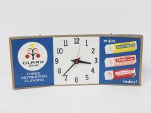 Clark Gum Advertising Clock