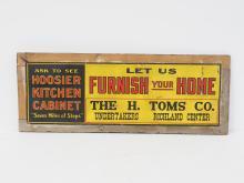Hoosier Cabinet Sign