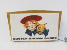 Buster Brown Shoes Sign