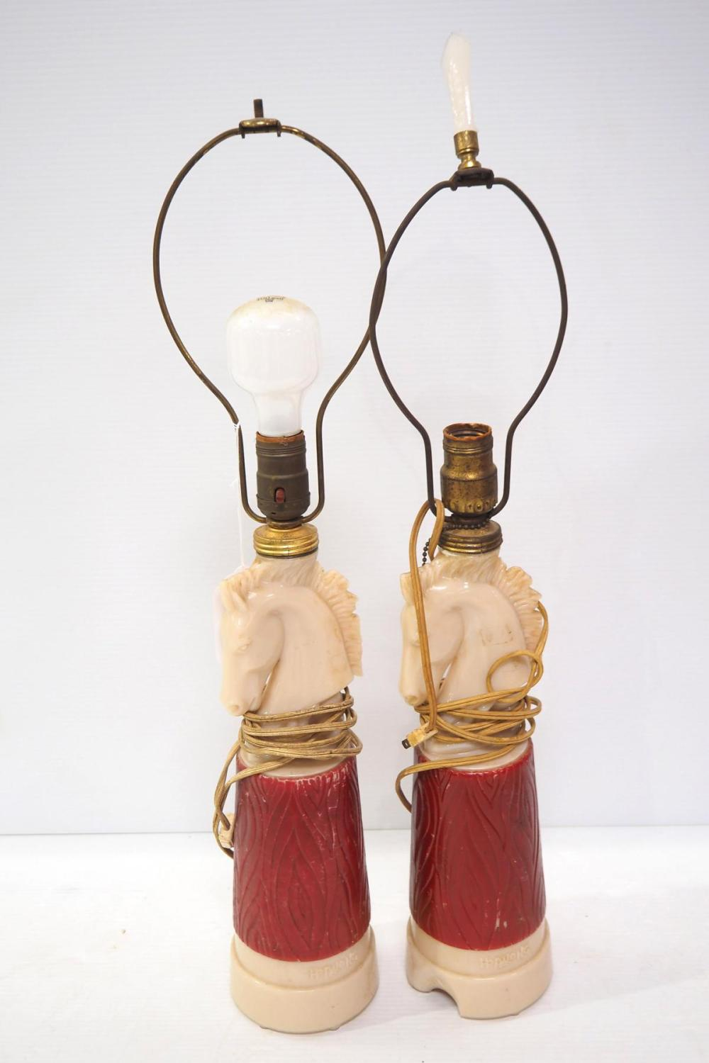Pair of Hopalong Cassidy table lamps