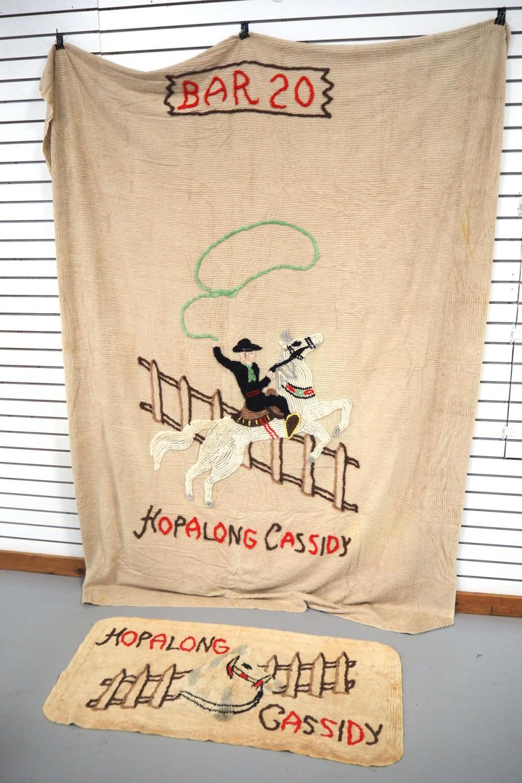 Hopalong Cassidy blanket & rug