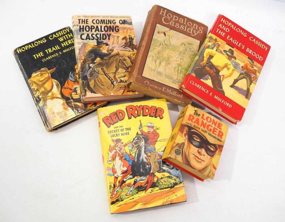 Hopalong Cassidy, Red Ryder & Lone Ranger books