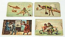 (3) Furst & Bradley trade cards & (1) David Bradley trade card
