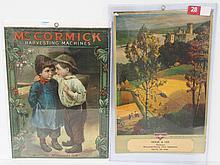 (2) McCormick calendar tops