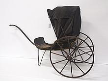 Push baby carriage with folding canopy top