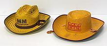 (2) NOS Minneapolis Moline straw hats