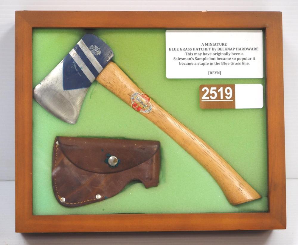 """Miniature 10""""L Blue Grass Hatchet by Belknap"""