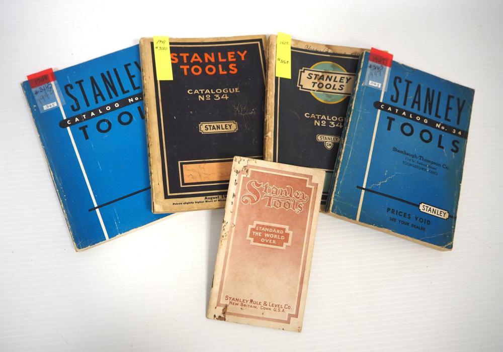 (4) Stanley Tools Catalogue No.34
