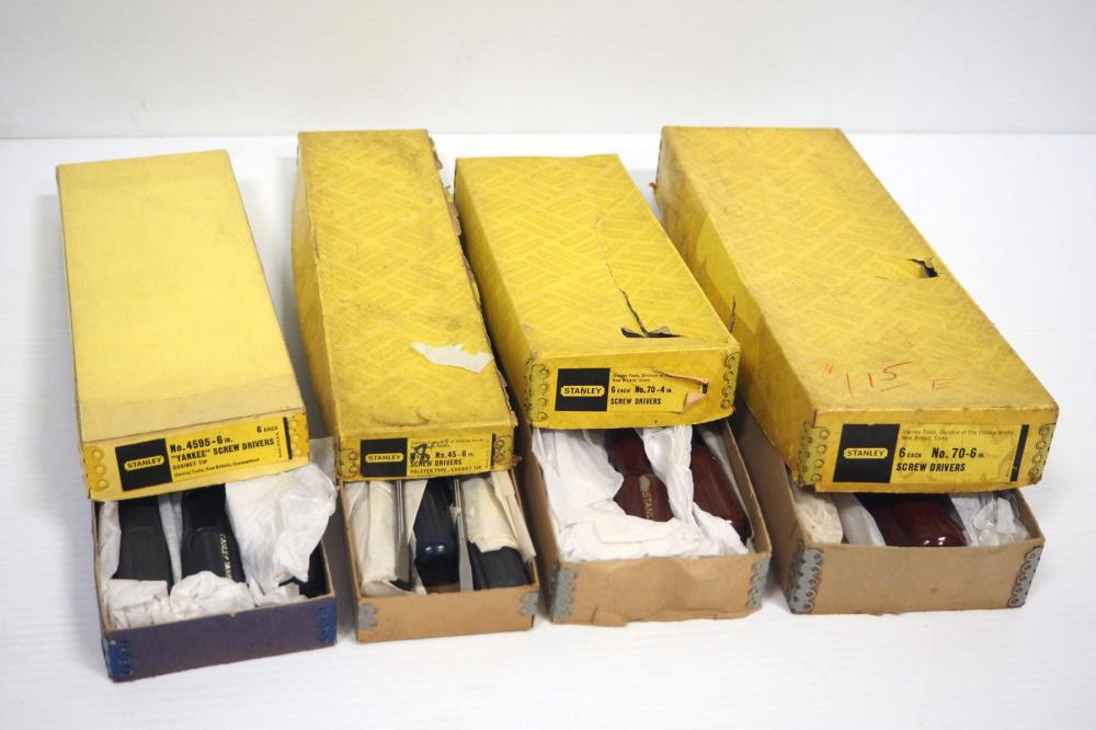 (4) NOS boxes of Stanley Screwdrivers