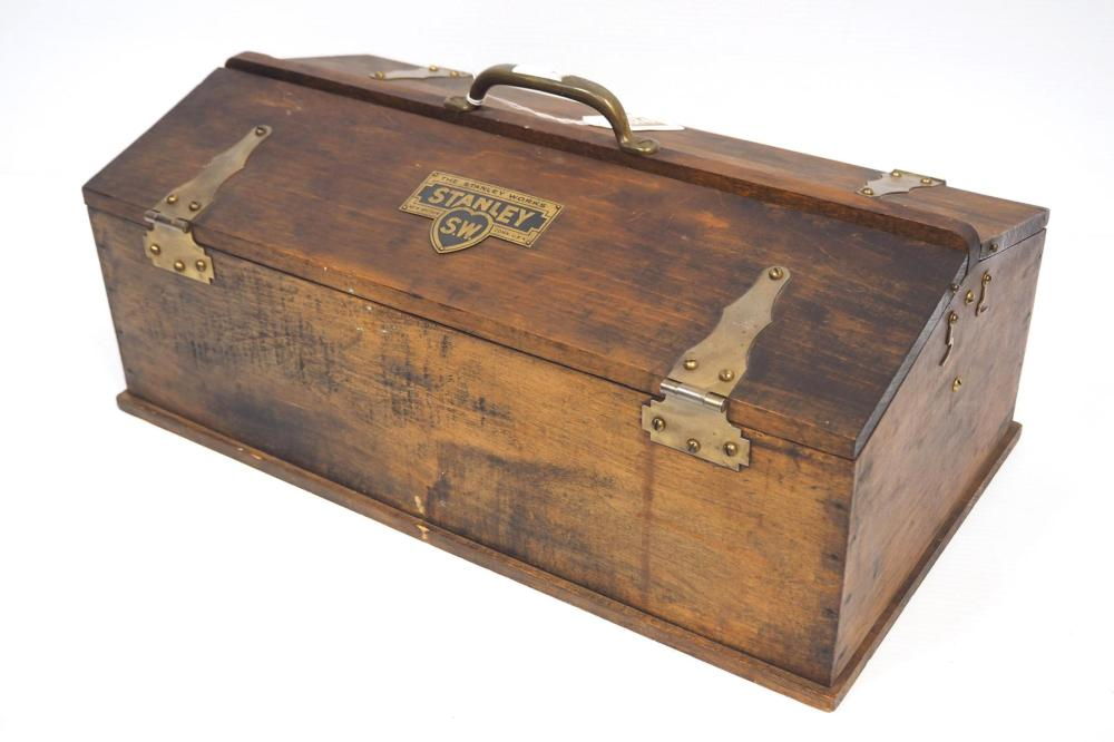 Stanley wooden Carpenter's Hip Roof Toolbox