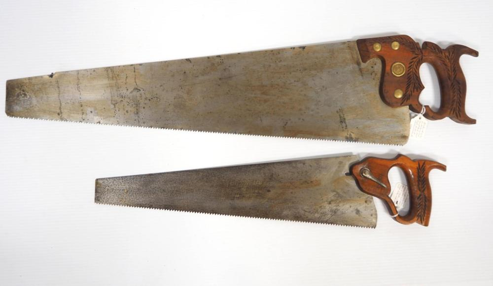 (2) Henry Disston & Sons Hand Saws