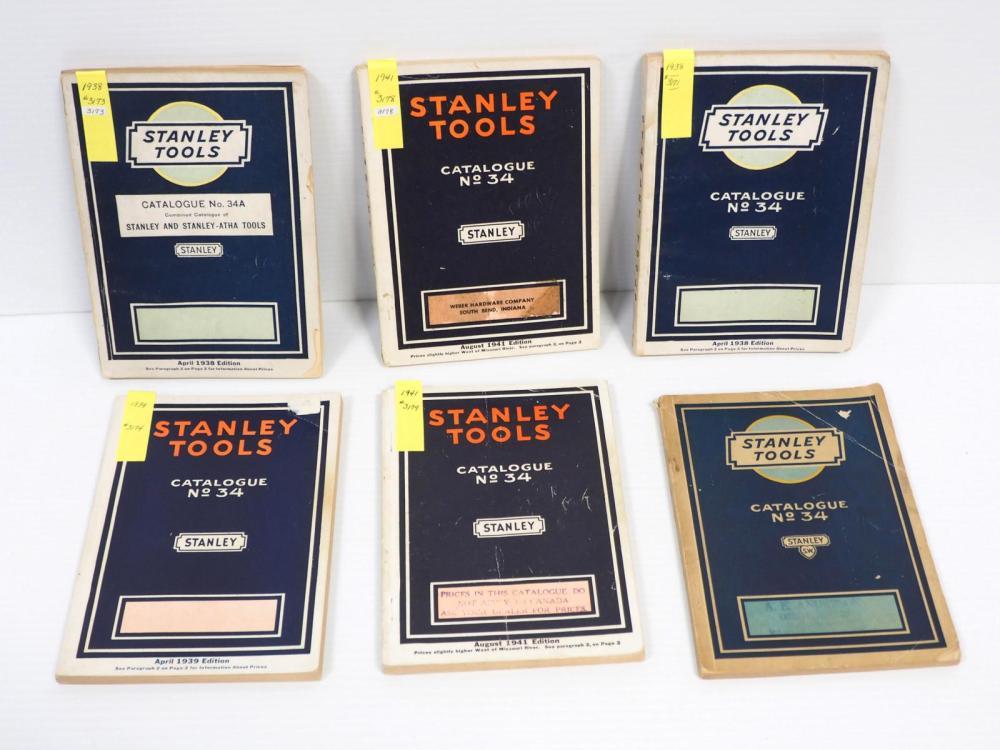 (6) Stanley Catalogs