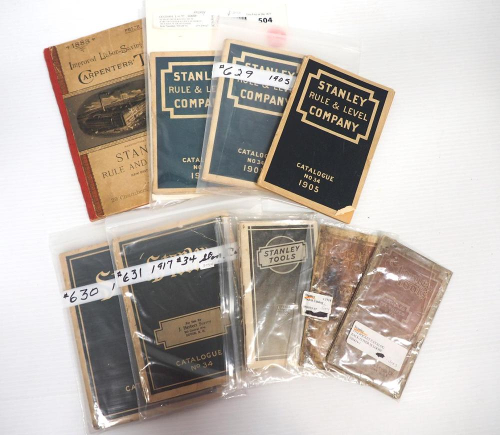 (9) Stanley No.34 and pocket catalogs