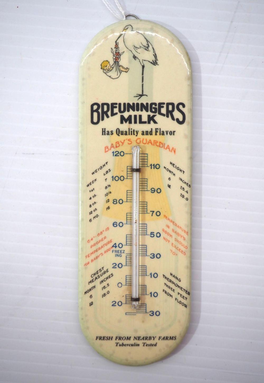"""Breuningers Milk"" thermometer"