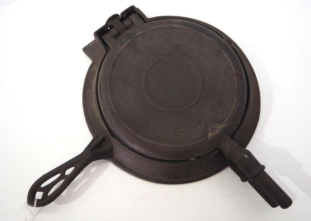 The American Griswold No.8 & 9 waffle iron