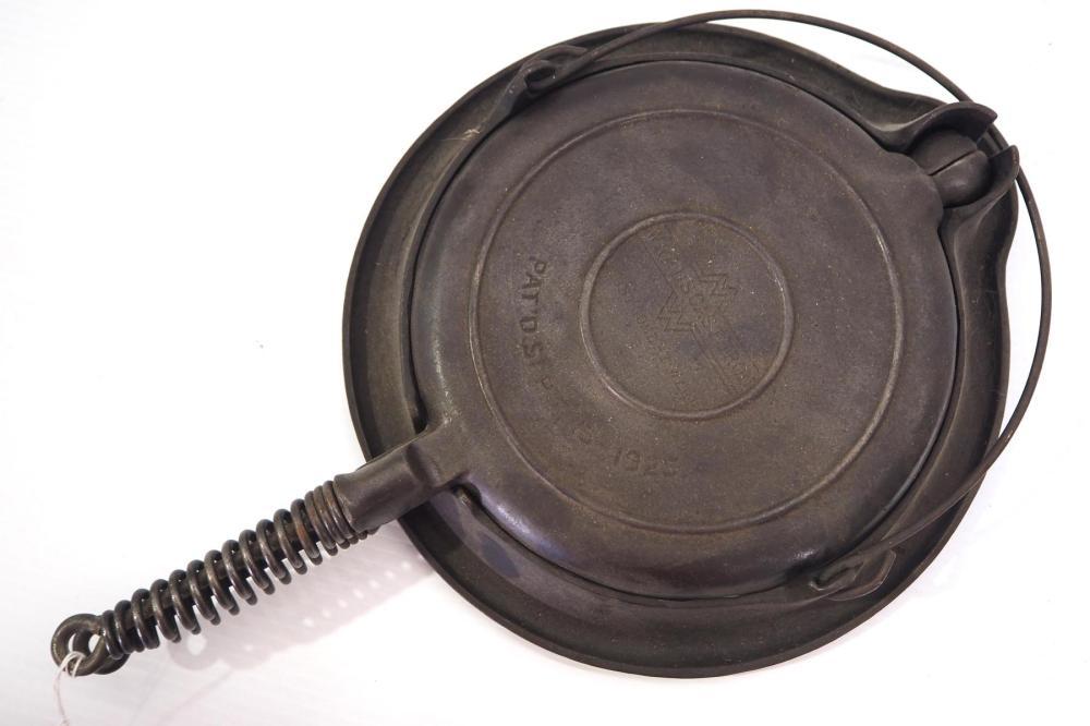 Wards Cast Iron waffle iron