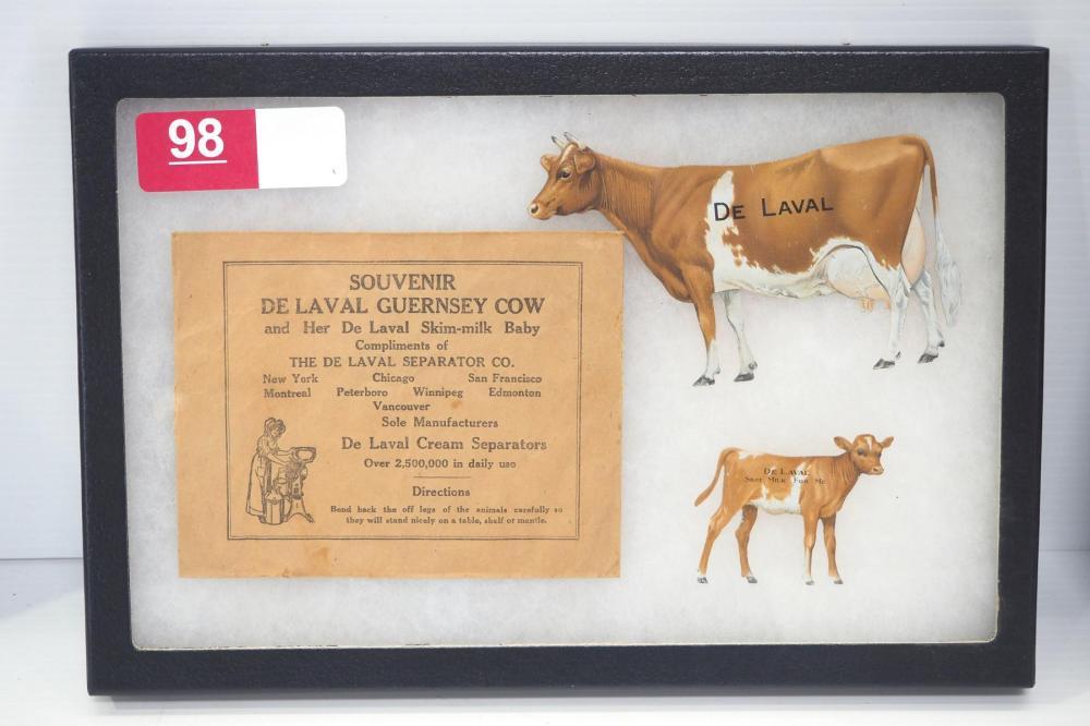 DeLaval Guernsey tin cow & calf