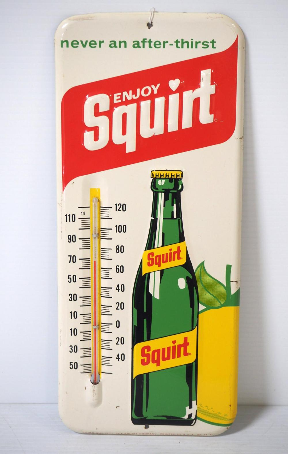 Squirt thermometer
