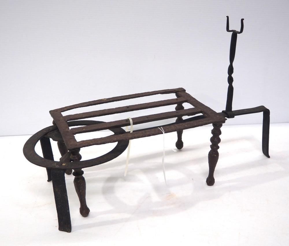 (2) Cast iron fireplace trivets
