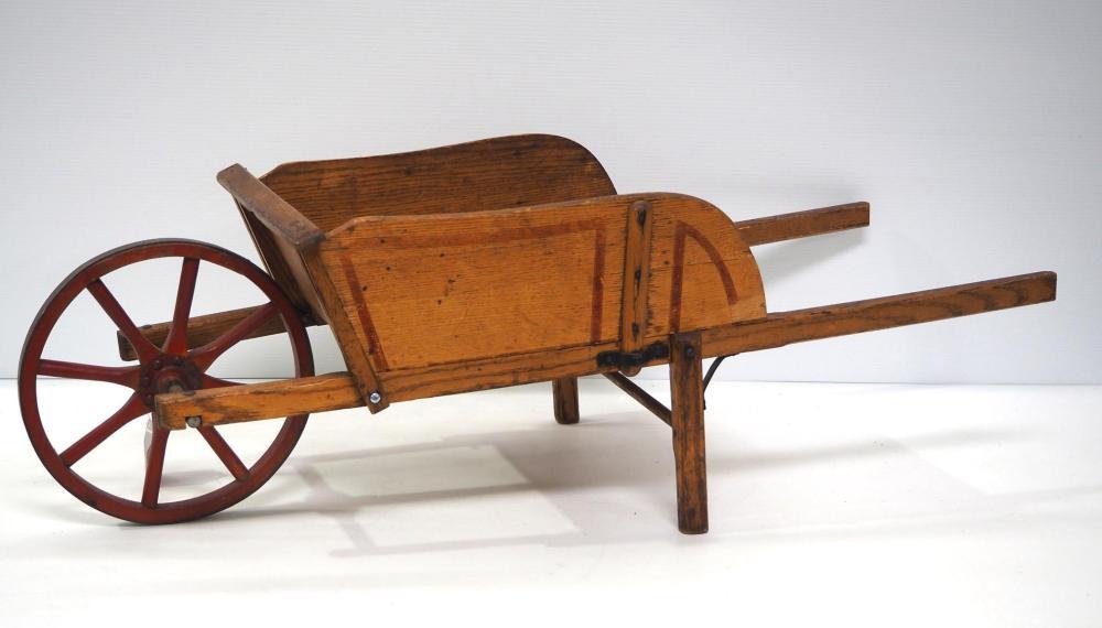 Paris Mfg. No.3 wooden child's wheelbarrow