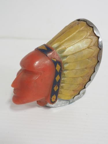 Pontiac Indian head hood ornament