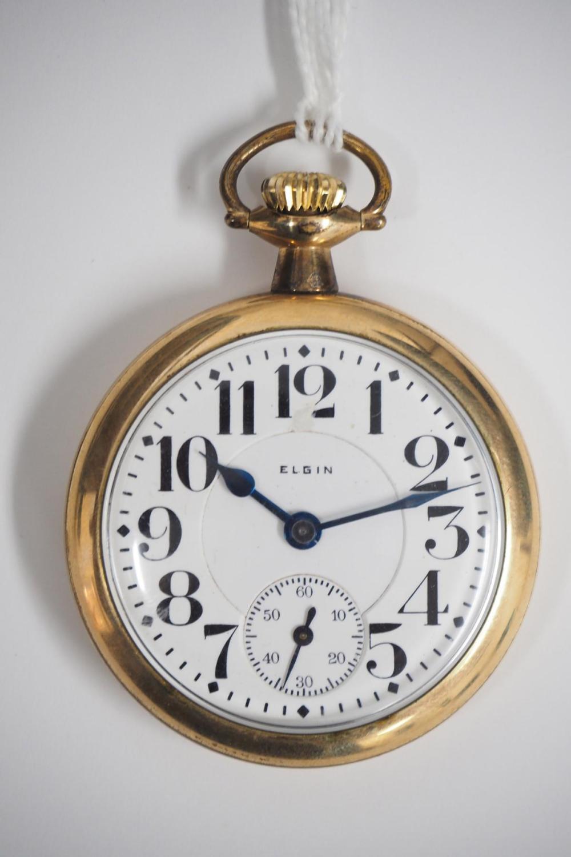 Elgin Father Time 21J RR grade pocket watch