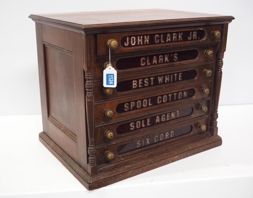 6-drawer John Clark Jr spool cabinet