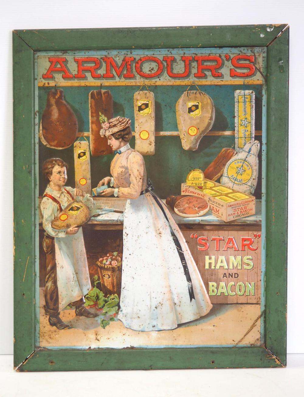 "Armour's ""Star"" Hams and Bacon sign"