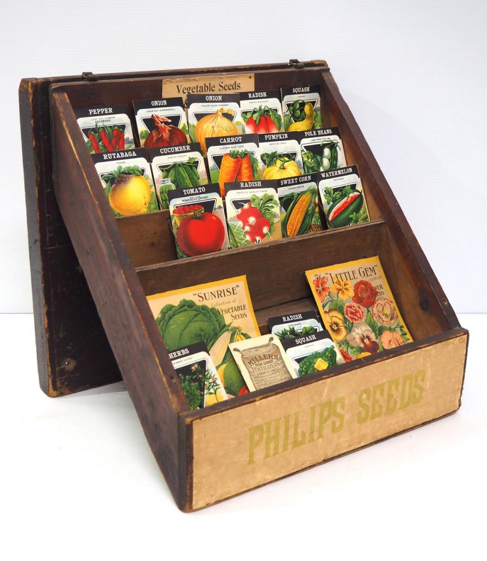 Seed shipping box/display rack