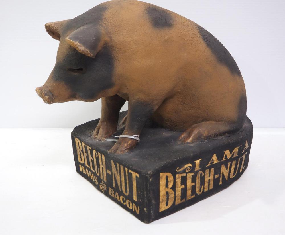 Beech Nut Hams & Bacon advertising pig