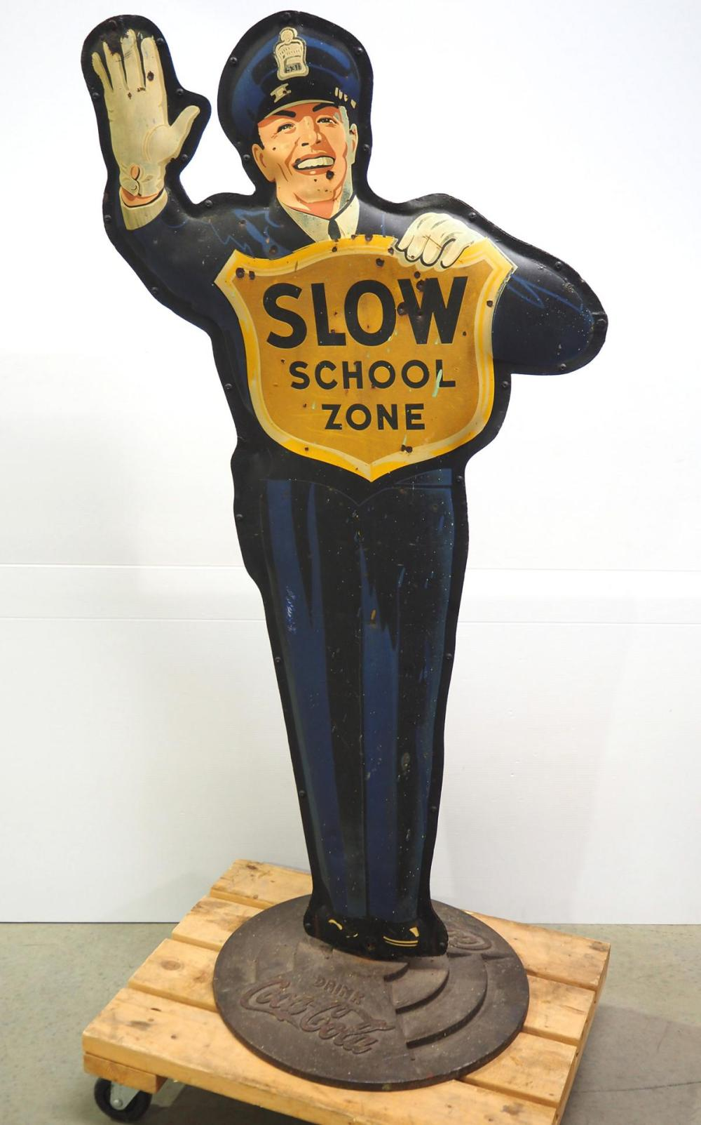 Coca Cola Slow School Zone policeman