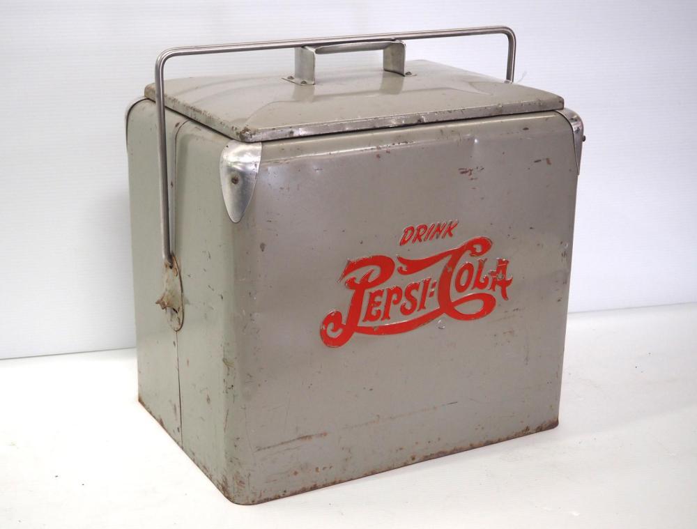 1940's double dot battleship grey Pepsi cooler