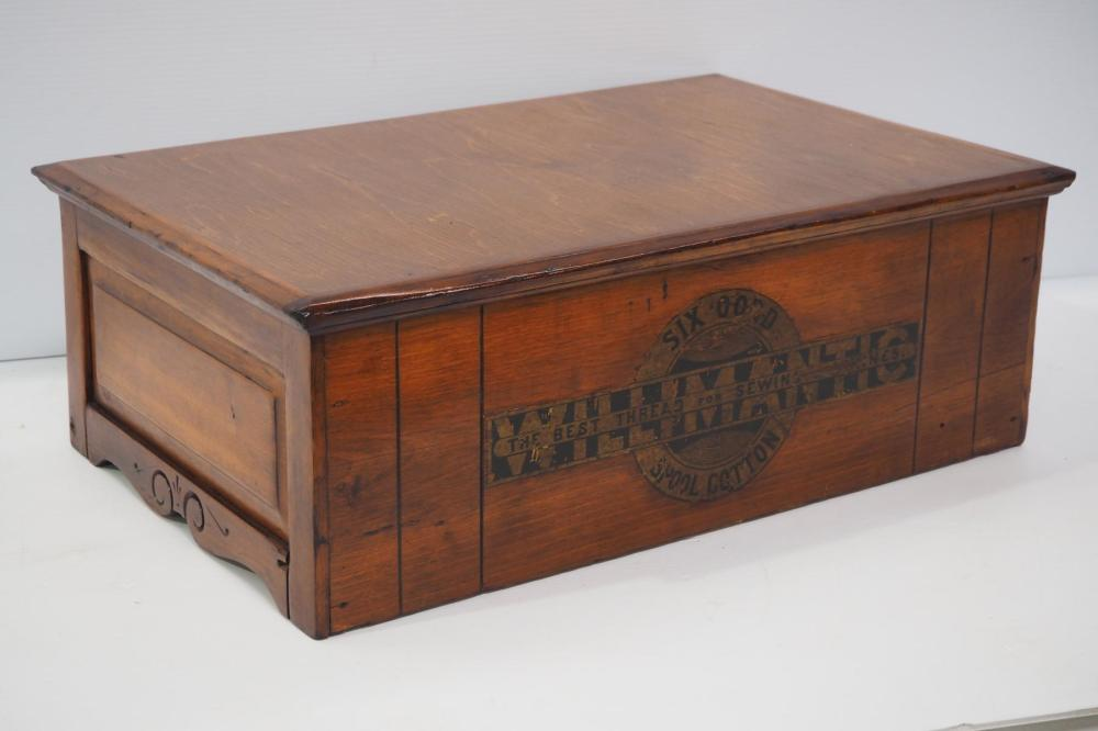 Willamatic 2-drawer walnut spool cabinet