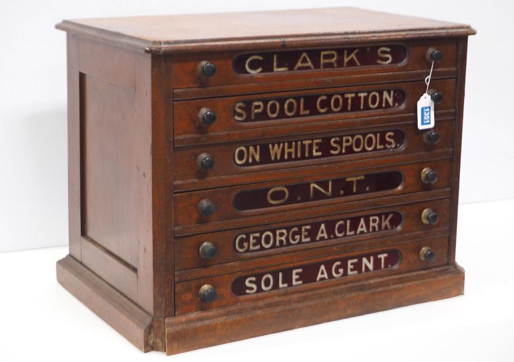 6-drawer Clarks spool cabinet