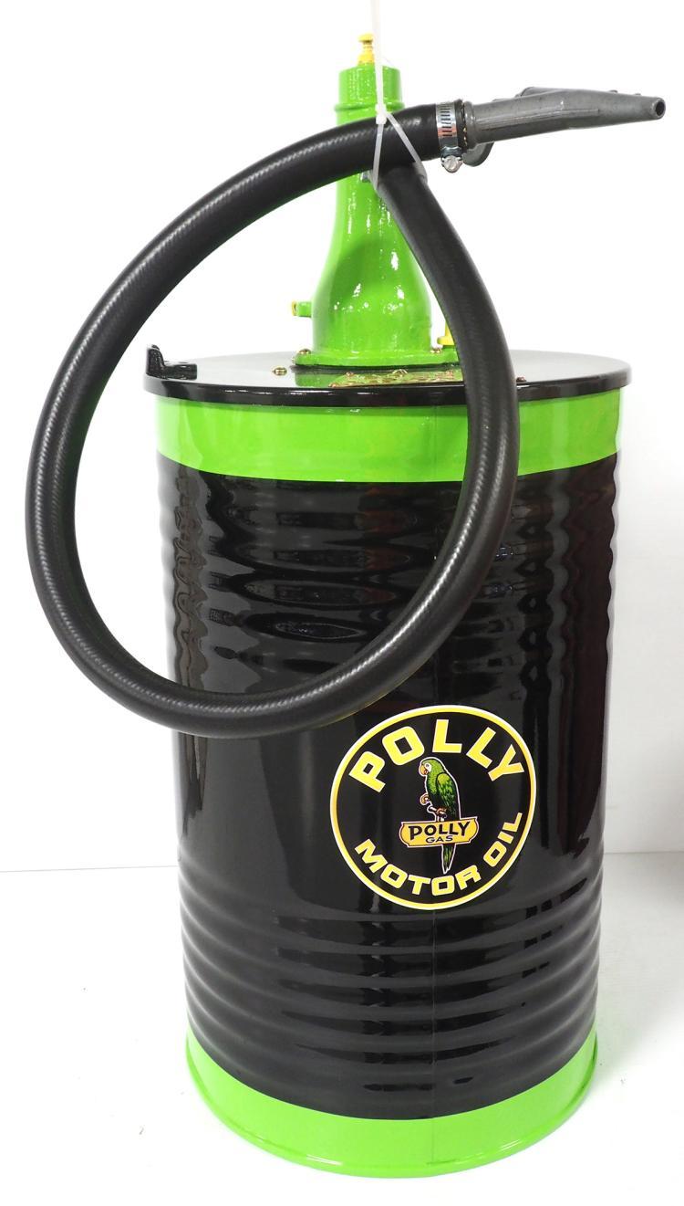 Custom polly motor oil barrel lubester for Motor oil by the barrel