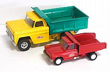 Structo Dump Bed truck & Tonka Dump Bed truck - Structo good with play wear, Tonka very good