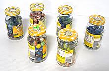 (6) Small jars of marbles