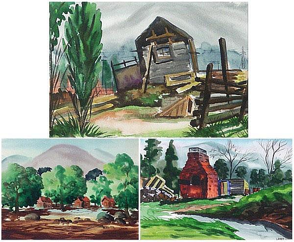 Art Landy (1904-1977) Californian (three) CABINS