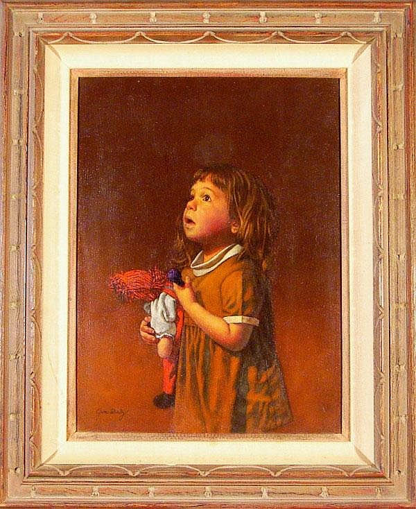Jim Daly (b. 1940) American LITTLE GIRL WITH