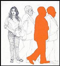 John Valadez (b. 1951) American 122 PERCENT, 1978,
