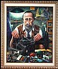 George Russin (b. 1910) American THE TAYLOR, oil, George Russin, Click for value