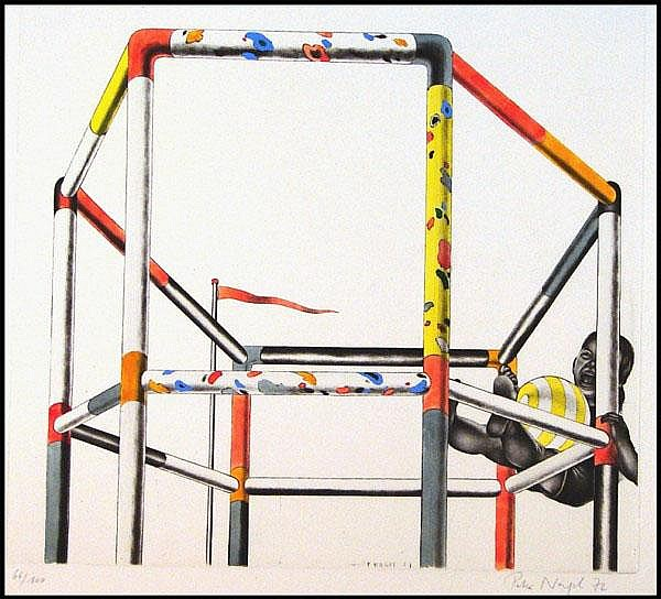 Peter Nagel (b. 1941) German JUNGLE GYM, 1972,