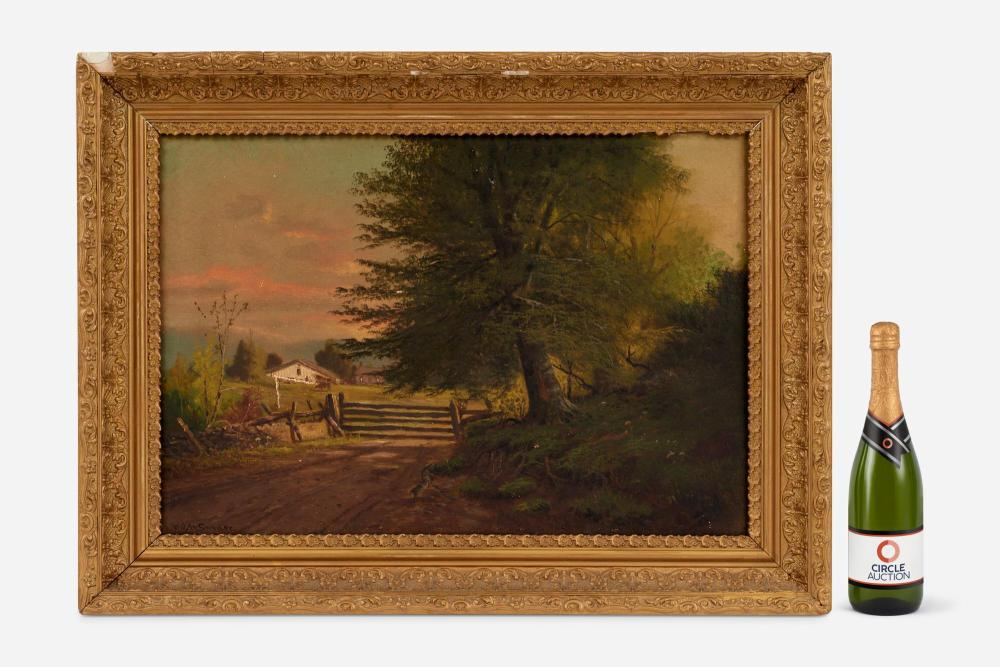 William McKendree Snyder (1848-1930) Oil, Indiana Farm