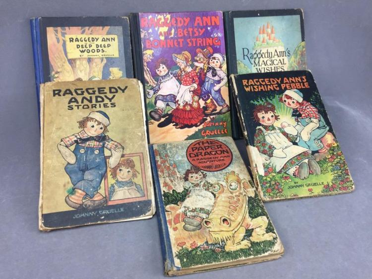 Collection of (6) Raggedy Ann & Friends story books by Johnny Gruelle