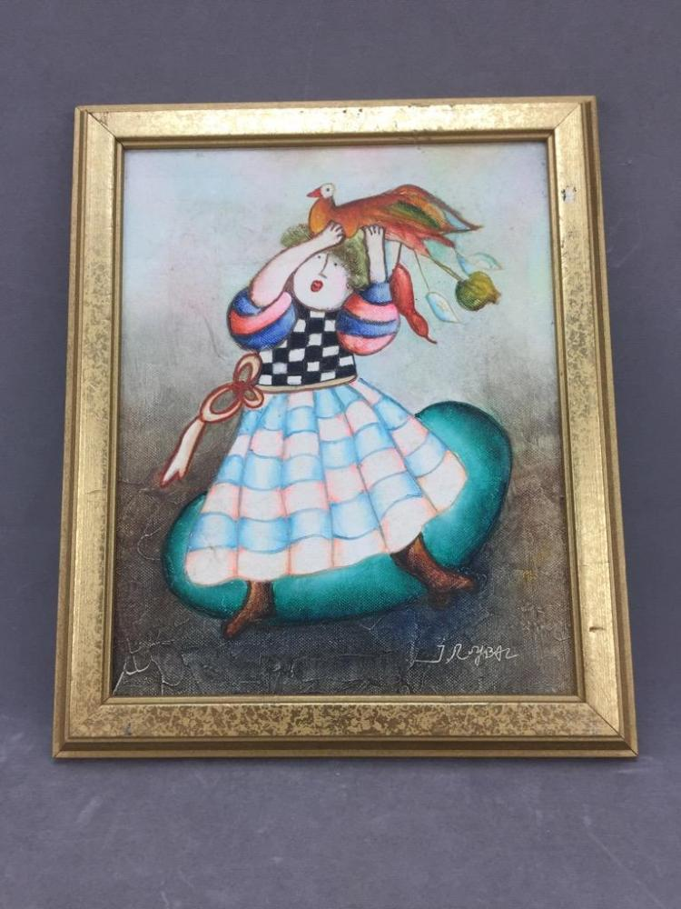 Listed Artist J. Roy Baz French 20th Century oil painting